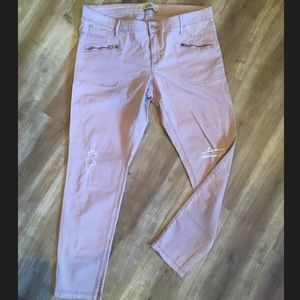 Holister Jeans Pink Sz 15 Zipper Pockets